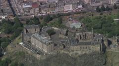 Castle aerial Stock Footage
