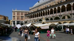 Padua - Piazza delle Erbe Stock Footage