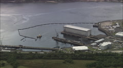 Faslane Naval Base For Nuclear Submarines Stock Footage