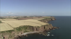 Arbroath Cliffs Stock Footage