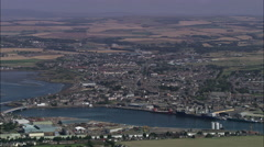 Montrose aerial Stock Footage