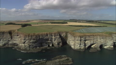 Coast South Of Aberdeen Stock Footage