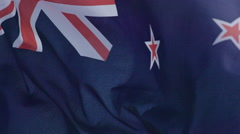 New Zealand Flag in slow motion Stock Footage