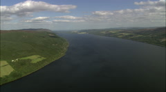Loch Ness aerial Stock Footage