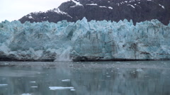 Glacier Melted Ice Falls into the Water Stock Footage