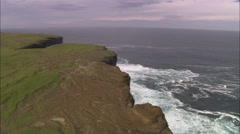 Orkney Cliffs And Waves Stock Footage
