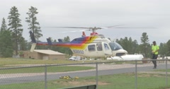 Helicopter Landing at an Airport Stock Footage