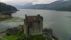 Eilean Donan Castle On Loch Duich Stock Footage