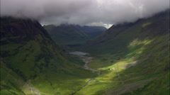 Glencoe And Mountains With Clouds Stock Footage