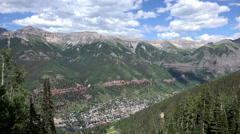 4K Clouds Sweep Across Mountains Surrounding Telluride Colorado Time Lapse - stock footage