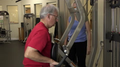 Mature People Working Out In Fitness Center For Better Health Stock Footage