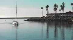 Oceanside Sailboat - stock footage