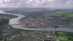 Derry aerial Stock Footage
