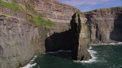 Flying Low Past Cliffs Stock Footage