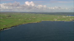 Flying Round Peninsular At Old Watch Tower Stock Footage