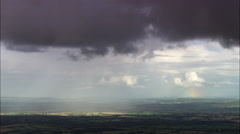 Rainbow Over Cork County Stock Footage