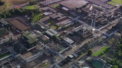 Industrial Sites In Cork Harbour Stock Footage