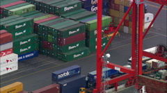 Dublin's Cargo Docks Stock Footage