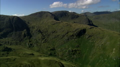 St Sunday Crag And Pan Right Across Mountains To Ullswater Stock Footage