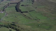 Fields Near Bainbridge Village In Wensleydale Stock Footage