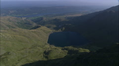 Small Lake In Mountains Near Levers Water Stock Footage