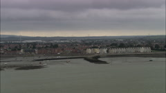 Morecombe aerial Stock Footage