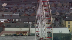 Blackpool And Piers Stock Footage