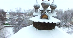 Wooden Church of Holy Mother, Kostroma, Russia. Stock Footage