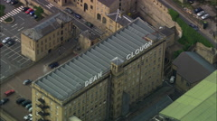 Terraced Housing And Mills Stock Footage
