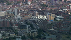 Leeds Approach And Centre Stock Footage