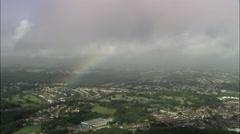 Rainbow Over Stoke-On-Trent Stock Footage