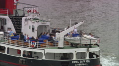 Ferry Across The Mersey Stock Footage