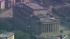St George's Hall With Pull Out To City Stock Footage