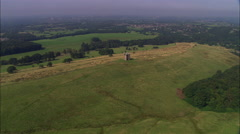 Lyme Park Approach And House Stock Footage