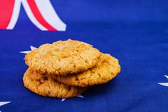 Anzac biscuits Stock Photos