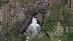 Falls At End Of Llyn Ogwen Stock Footage