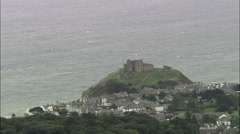Criccieth Castle Stock Footage