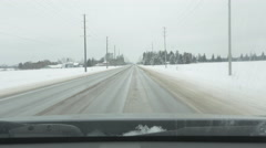 Driving north on County Rd 10. Winter in rural Ontario, Canada. Stock Footage