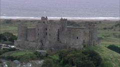 Harlech Castle Stock Footage
