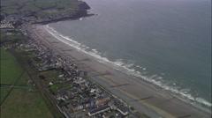 Borth aerial Stock Footage