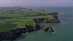 Porthgain Harbour Stock Footage