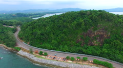 Road and sea side in chantaburi eastern of thailand Stock Footage