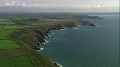 Coast To The South East Of St David's Stock Footage