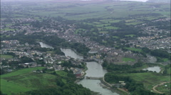 Pembroke Castle And Town Stock Footage
