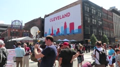 RNC 2016 Cleveland Banner Stock Footage