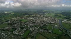 Carmarthen aerial Stock Footage