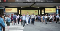 People at Penn Station in Manhattan New York City 4k Stock Video - stock footage