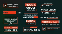 13 Simple Titles Stock After Effects