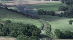 Green Steam Train On Severn Valley Railway Stock Footage