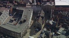 Shrewsbury aerial Stock Footage